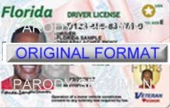 Florid Drivers Florida License Id Card Fake O64rO