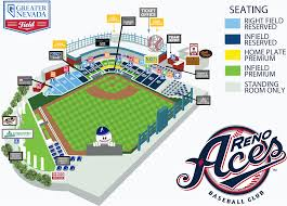 Aces Ballpark Seating Chart Greater Nevada Field Seating Chart Best Picture Of Chart