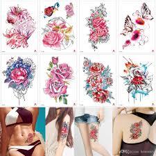 акварельные татуировки бабочки цветы временные татуировки наклейки боди арт
