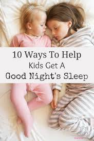 10 Natural Sleep Aids for Children