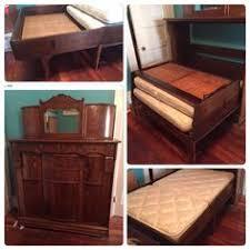 hidden bed furniture. Murphy Bed Antique Oak Cabinet Hidden Furniture D
