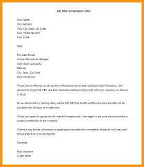 Offer Letter Acceptance Mail Format Job Offer Template Letter Familycourt Us
