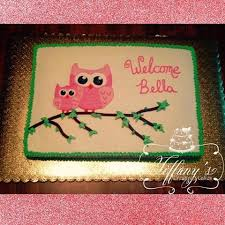 Owl Baby Shower Cakes  Baby Shower CakesOwl Baby Shower Cakes For A Girl