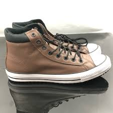 converse mens chuck taylor boot brown leather