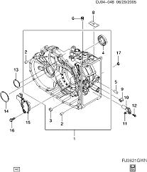 Array 2004 2007 j automatic transmission part 11 mfa case u0026 related rh chevrolet 7zap
