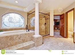 Bathroom Interior Door Luxury Bathroom Interior With Columns Stock Photo Image 43175086