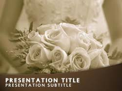 Wedding Powerpoint Template Free Royalty Free Wedding Bride Powerpoint Template In Orange