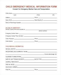 Printable Babysitter Forms Emergency Medical Consent Form Sample To