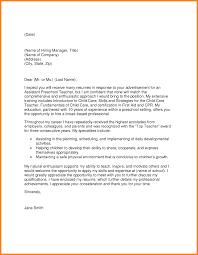 8 Preschool Teacher Cover Letter Precis Format