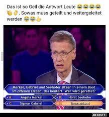 Markus söder corona frisuren lustig. Merkel Gabriel Und Seehofer Sitzen In Einem Boot Im Offenen Ozean Lustige Bilder Spruche Witze Echt Lustig