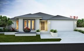 4 Bedroom Lennox House Design · Modern Elevation With Rendered Facade Gable  Planking