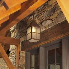 carriage lantern 8 in wide solid stem exterior pendant light