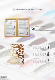 Gel Nail Color Chart Acrylic Gel Polish Color Chart 80 Slots