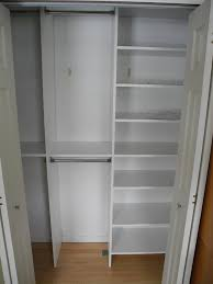 simple closet ideas. Clean White Shelves And Clothes Hangers Completing Simple Small Closet Ideas On Hardwood Flooring