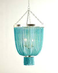 turquoise beaded chandelier light beads six how to make turquoise beaded chandelier