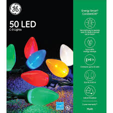 ge energy smart colorite led 50 light c9 traditional light set multi by nicholas holiday inc amazon