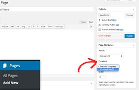 How to Change Page Template in WordPress