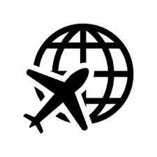 地球と飛行機のシルエット 無料のaipng白黒シルエットイラスト