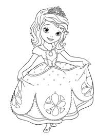 Princess Sofia Curtseying Coloring Page Free Printable Coloring Pages