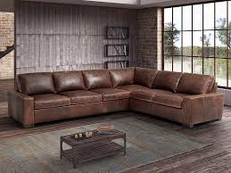 baltimora 4 piece leather sectional by fsi