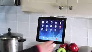 Kitchen Tablet Holder 2 In 1 Kitchen Mount Stand For Ipad Tablets Youtube