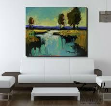 Living Room Art Paintings Jose Trujillo Contemporary Art Painting Landscape Canvas Decor