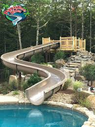 in ground pools with slides. Fine Ground Best Water Slides Images On For Pools Slide Inground Pool In Ground With M