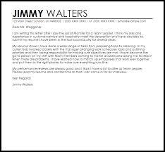 Customer Service Team Leader Cover Letter Team Leader Cover Letter Sample Cover Letter Templates