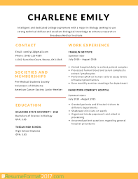 Student Resume Template 2017 Resume Builder