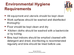 in catering m m 9 environmental hygiene requirements