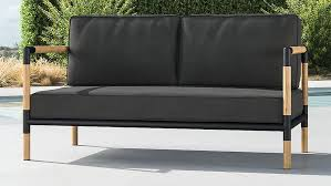 barra teak and metal sofa