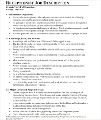 hotel front office department job description template free word pdf doents