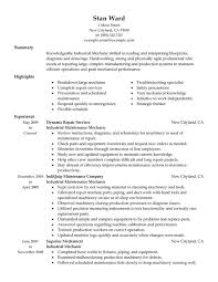 Mechanic Resume Awesome Industrial Maintenance Mechanic Resume Examples Created By Pros