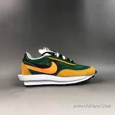 Women Men Sacai X Nike Ldv Waffle Daybreak Green Bv0073 300