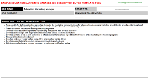 Education Marketing Manager: Free Career Templates Downloads | Job ...