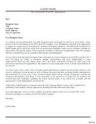 Social Work Sample Cover Letter Simple Social Worker Cover Letter ...