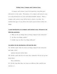 essay writing thesis statements thesis classroom  notes for writing a compare and contrast essay