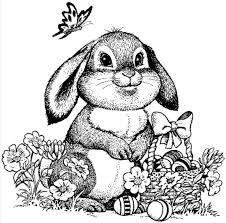 Small Picture Detailed Easter Bunny Coloring Page Coloring Book