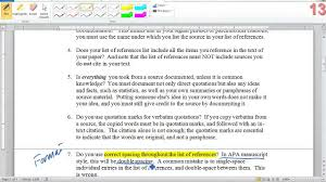 Apa Checklist The Annotated Bibliography