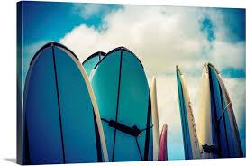 retro style vintage surf boards in