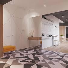Creative Geometric Entryway Design