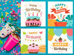 Four Printable Birthday Cards For Kids