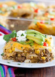 easy layered enchilada cerole what