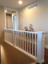 Custom Newel Post This Craftsman Style Balcony Staircase Has A Custom Contemporary