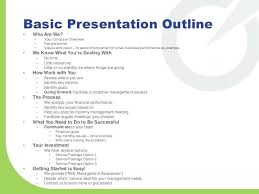 Annual Presentation Outline Template Planning A In Format