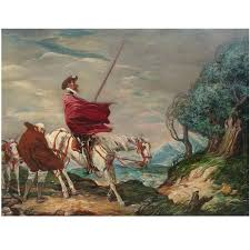 don quixote painting by charles huard 1874 1965 for