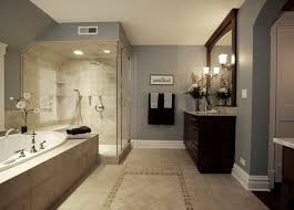 Beige Tiled Bathrooms Set