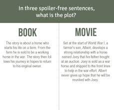movie versus book oscar nominee war horse huffpost movie book war horse