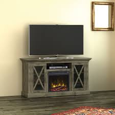 fischer 54 tv stand with electric fireplace