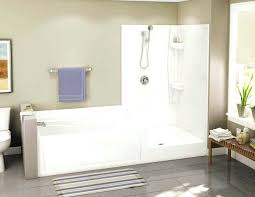 walk in bathtub with shower built in small tub and shower stall white with floating corner